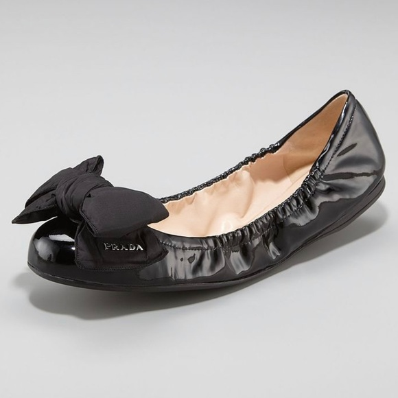 c8cf38093b Prada Shoes | Big Bow Calzature Donna Vernice Flat | Poshmark